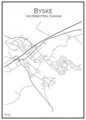 Stadskarta över Byske
