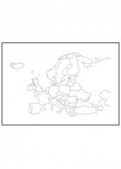 Stadskarta över Europa