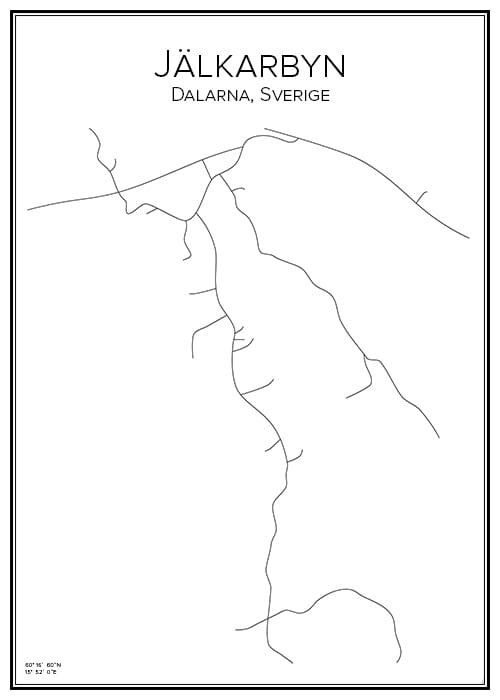 Stadskarta över Jälkarbyn