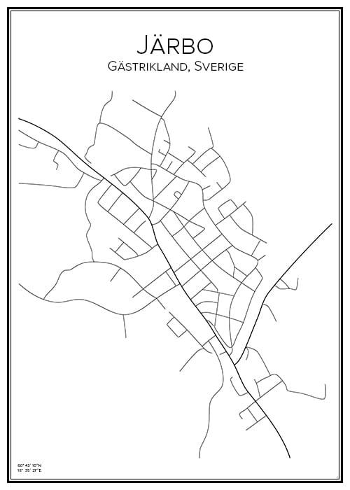 Stadskarta över Järbo