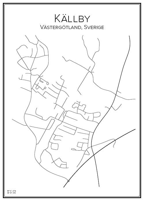 Stadskarta över Källby