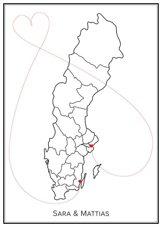 Kärlekskarta – Sverige