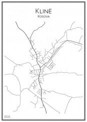 Stadskarta över Klinë