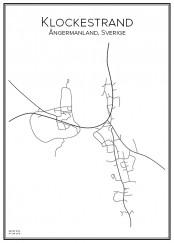 Stadskarta över Klockestrand