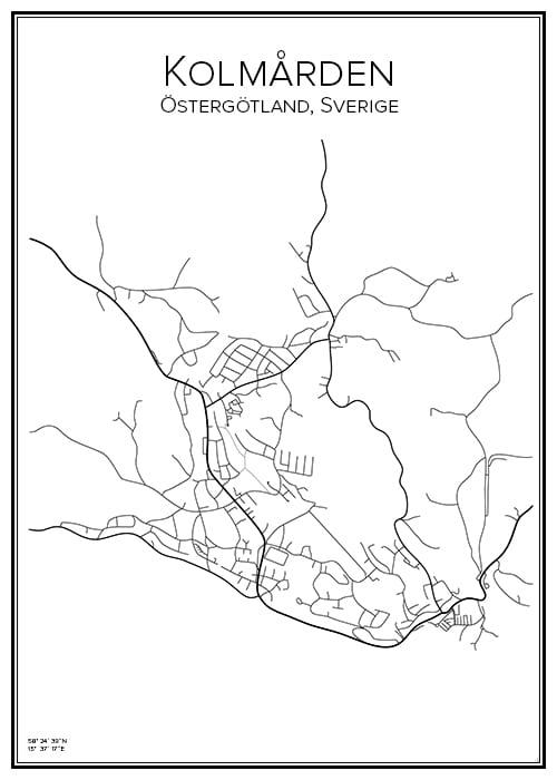 Stadskarta över Kolmården