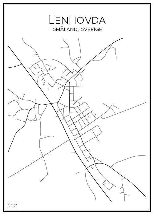 Stadskarta över Lenhovda