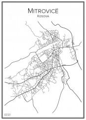 Stadskarta över Mitrovica