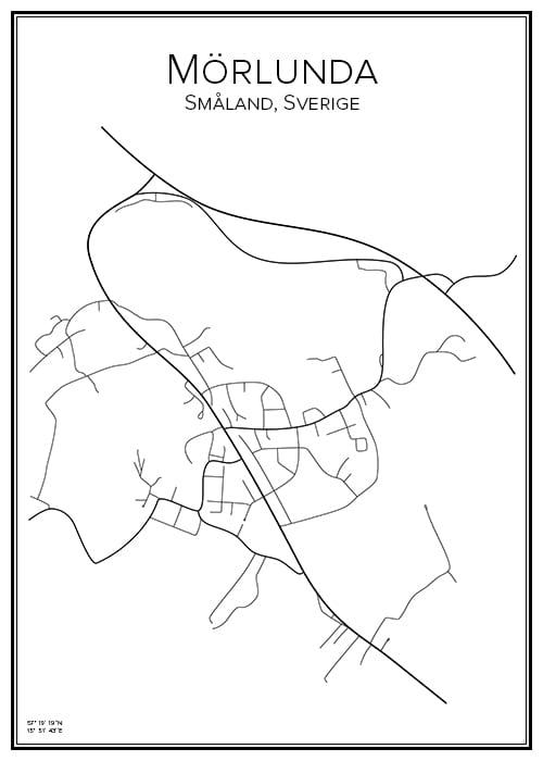 Stadskarta över Mörlunda