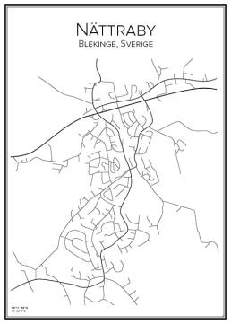 Stadskarta över Nättraby