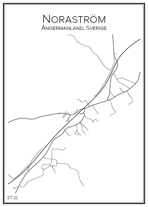 Stadskarta över Noraström