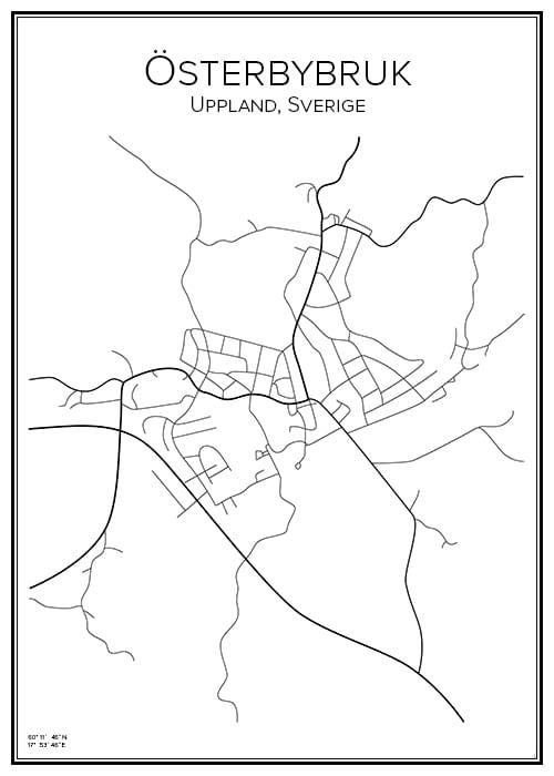 Stadskarta över Österbybruk