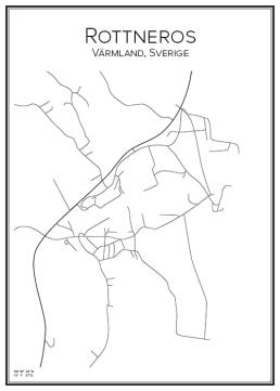 Stadskarta över Rottneros
