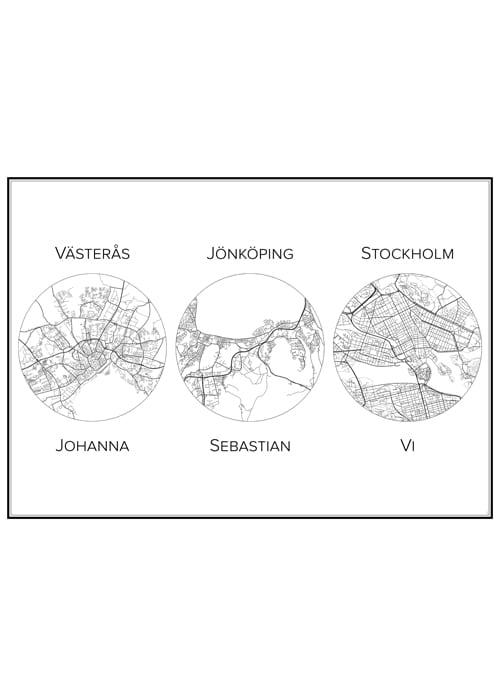 Stadskarta över våra städer