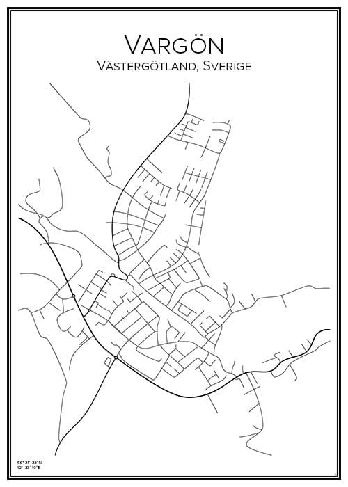 Stadskarta över Vargön