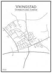 Stadskarta över Vikingstad