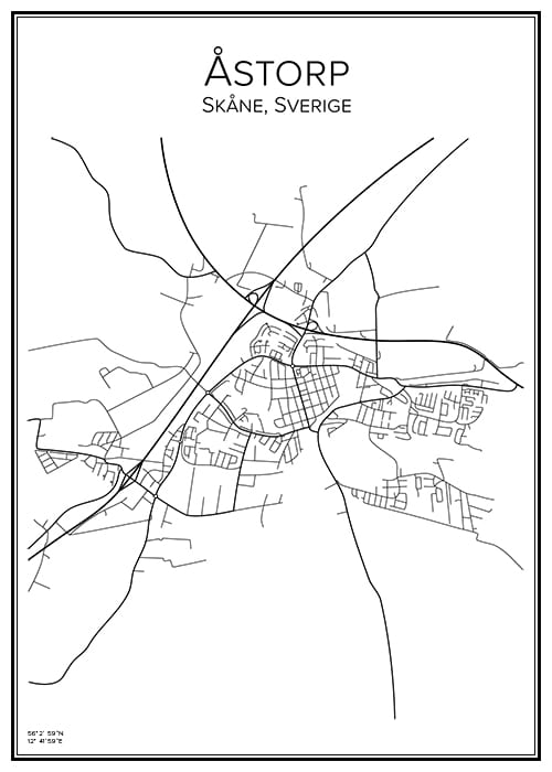 Stadskarta över Åstorp