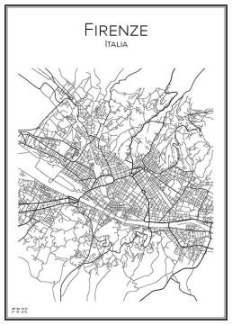 Stadskarta över Florens