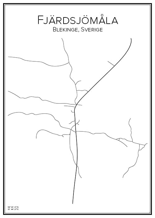 Stadskarta över Fjärdsjömåla