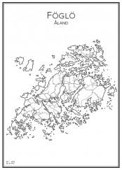 Stadskarta över Föglö