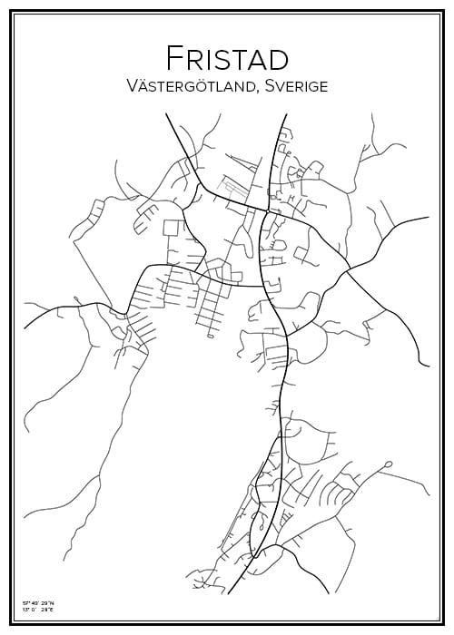 Stadskarta över Fristad