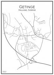 Stadskarta över Getinge
