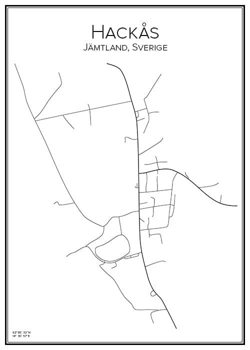 Stadskarta över Hackås