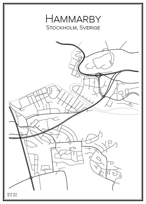 Stadskarta över Hammarby