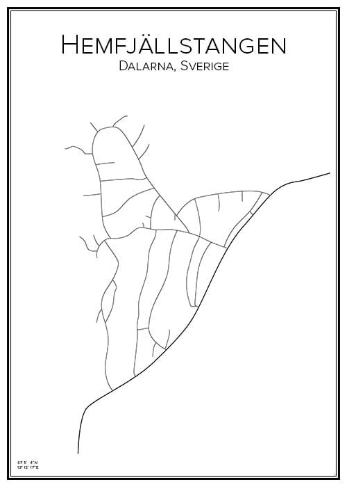 Stadskarta över Hemfjällstangen