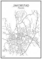Stadskarta över Jakobstad