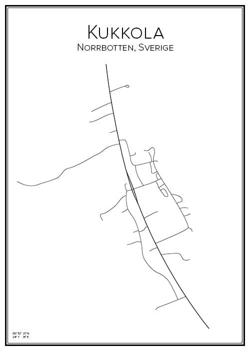 Stadskarta över Kukkola