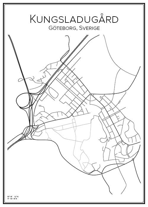 Stadskarta över Kungsladugård