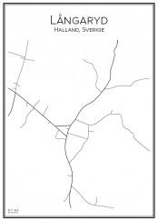 Stadskarta över Långaryd