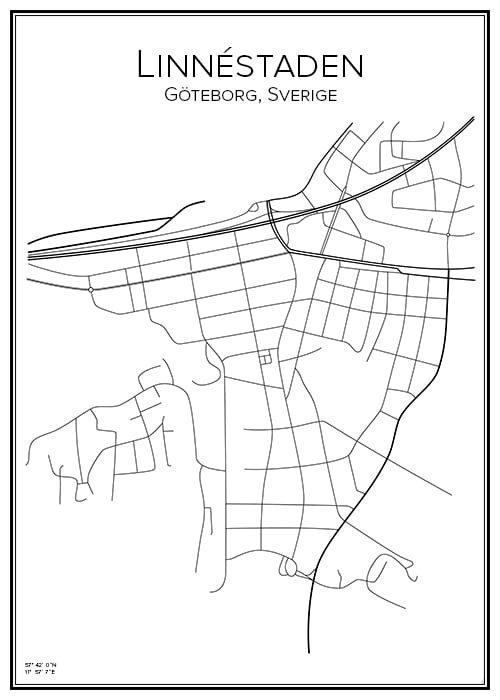 Stadskarta ör Linnéstaden