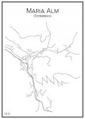 Stadskarta över Maria Alm