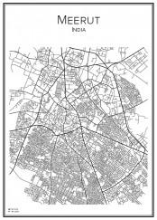 Stadskarta över Meerut
