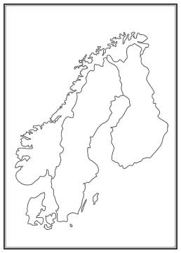 Stadskarta över Norden