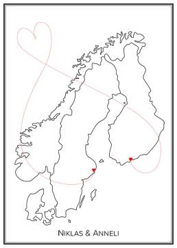 Kärlekskarta - Norden