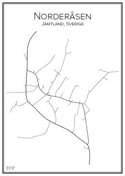 Stadskarta över Norderåsen