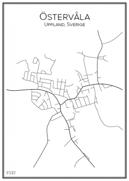 Stadskarta över Östervåla