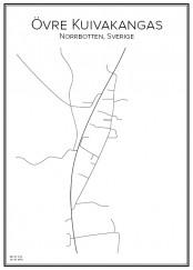 Stadskarta över Övre Kuivakangas