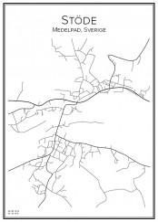 Stadskarta över Stöde