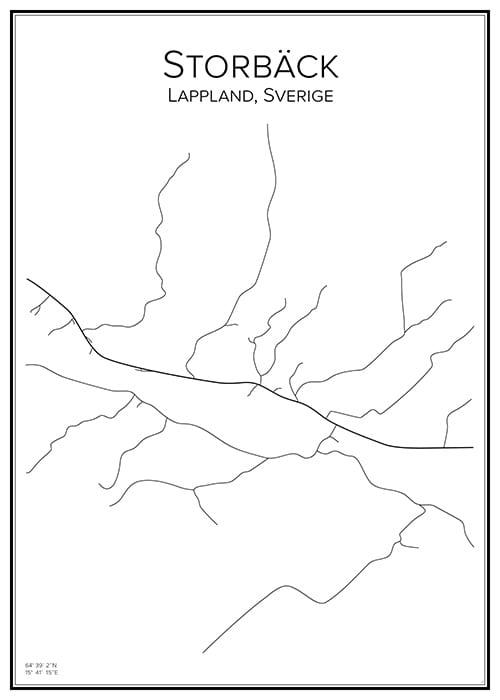 Stadskarta över Storbäck