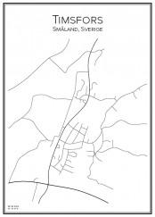 Stadskarta över Timsfors