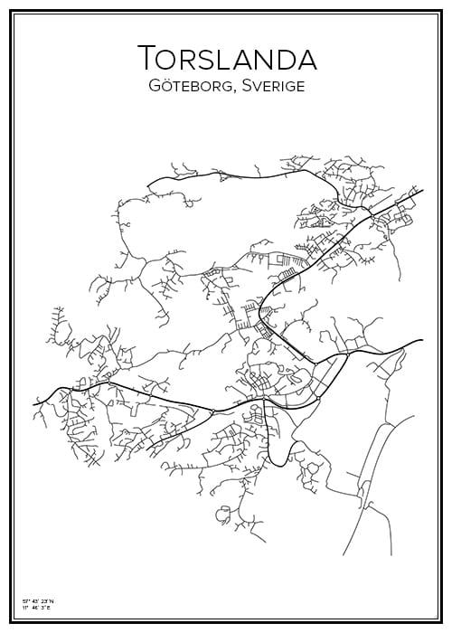Stadskarta över Torslanda