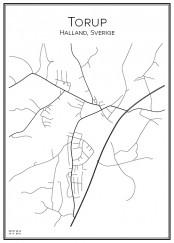 Stadskarta över Torup