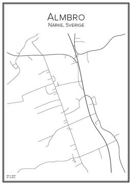 Stadskarta över Almbro