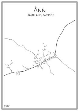 Stadskarta över Ånn