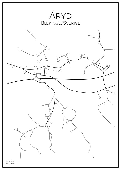 Stadskarta över Åryd