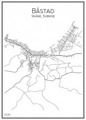 Stadskarta över Båstad