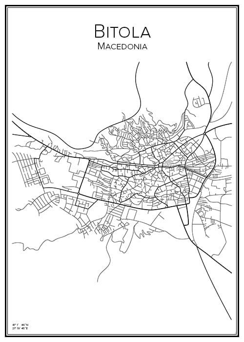 Stadskarta över Bitola